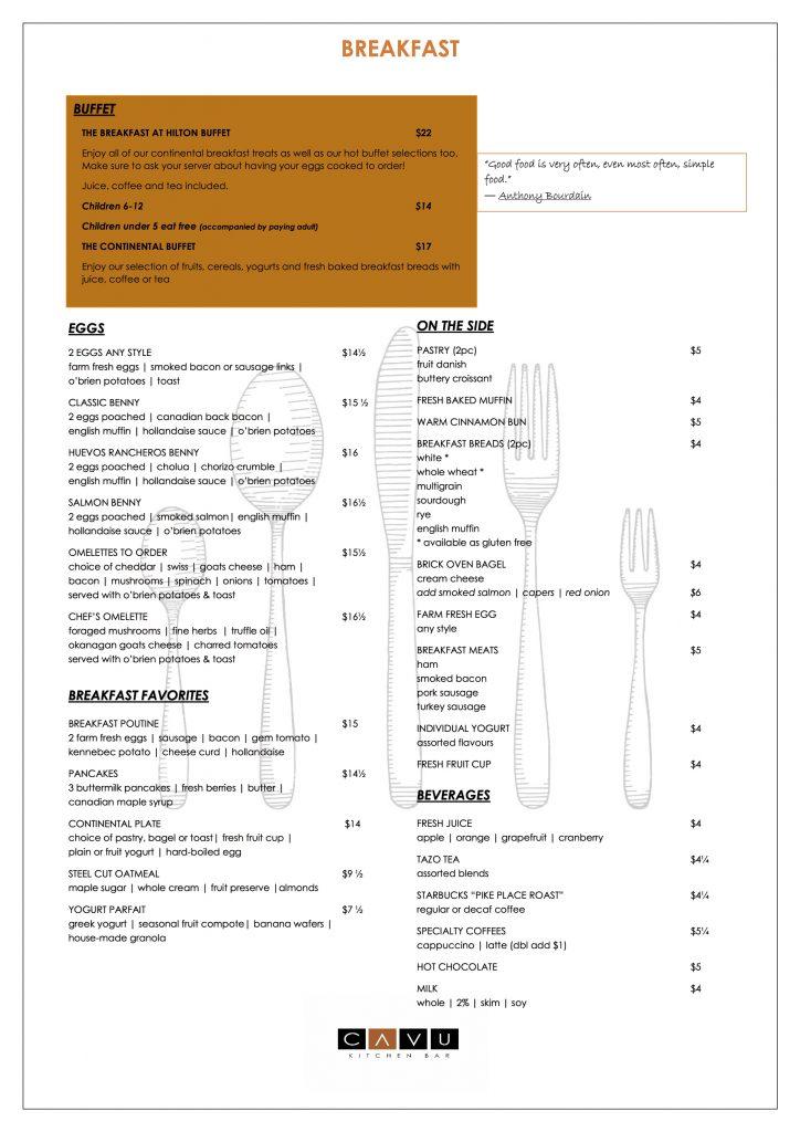 Cavu Kitchen Bar Happy Hour